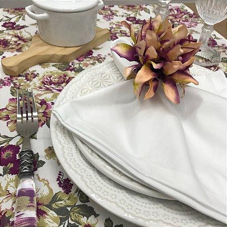 Trilho de Mesa Branco Floral Marsalla