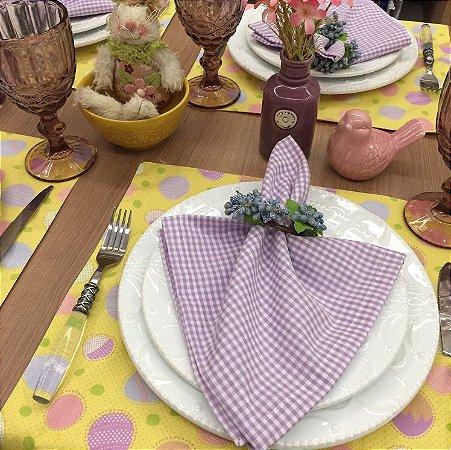 Guardanapo xadrez lilás