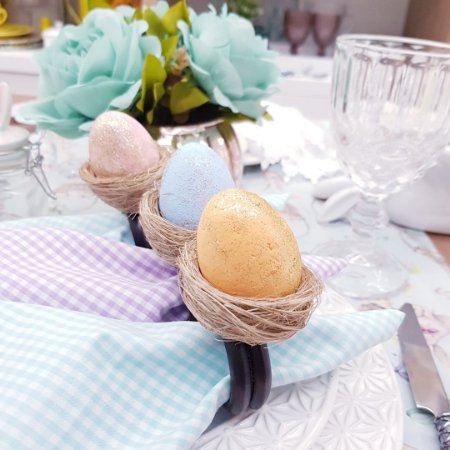 Porta guardanapo ovo de páscoa