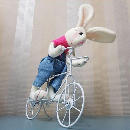 Boneco Coelho Bicicleta
