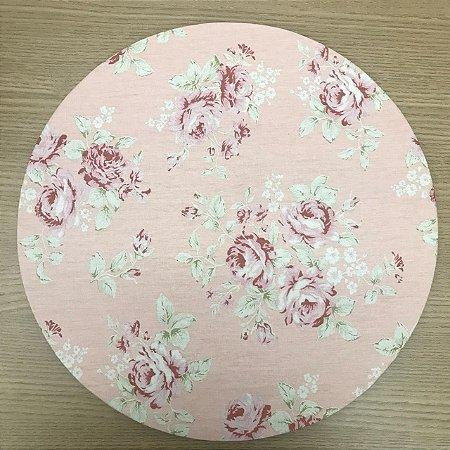 Capa Sousplat Rosa Floral Rosa Seco