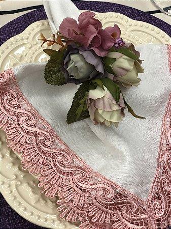 Porta Guardanapo Buque Botão de Rosas