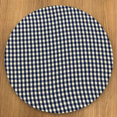 Capa para Sousplat Xadrez Azul