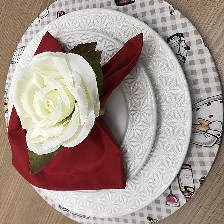 Porta Guardanapo Rosa Branca