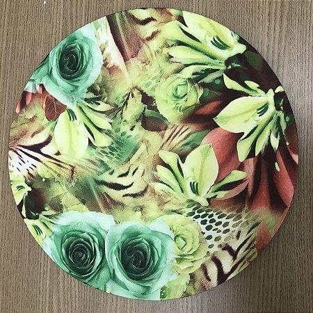 Capa Sousplat Floral Verde