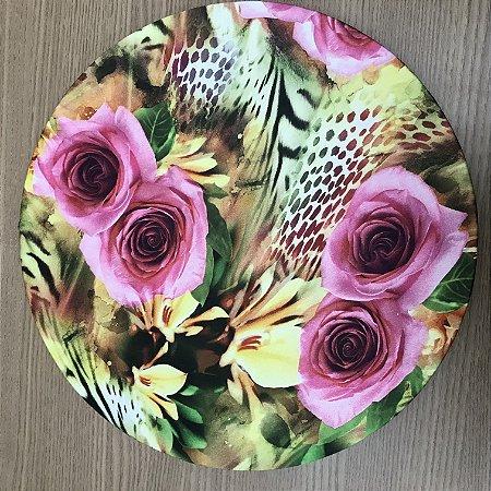 Capa Sousplat Flor Pink