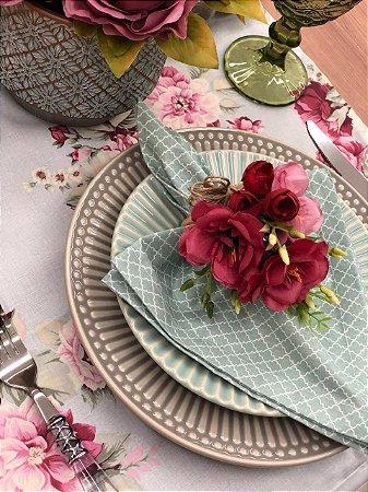 Porta Guardanapo Buquê de Flores Pink