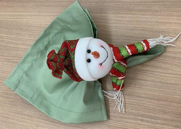 Kit Boneco de neve e Guardanapo 8 lugares