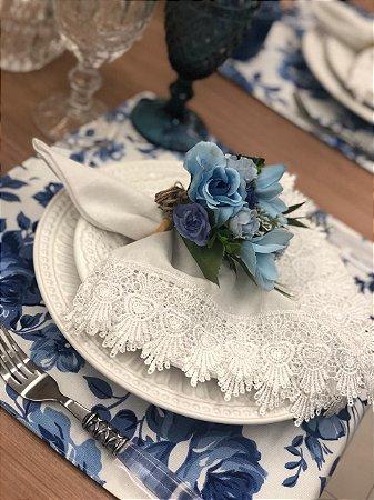 Porta Guardanapo Buque Azul