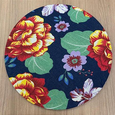 Capa Chita Marinho Floral