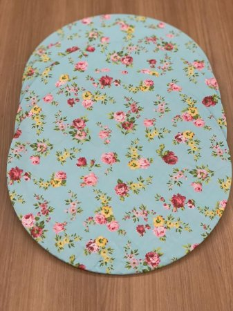 8 Capas Sousplat Azul Mix Floral