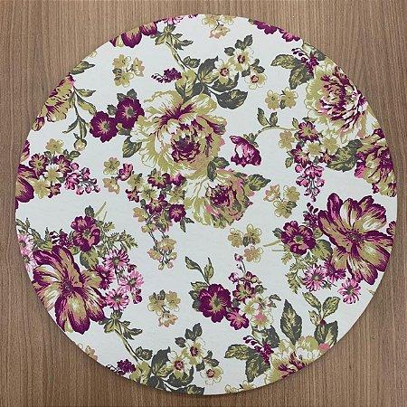 Capa para Sousplat Floral Roxo