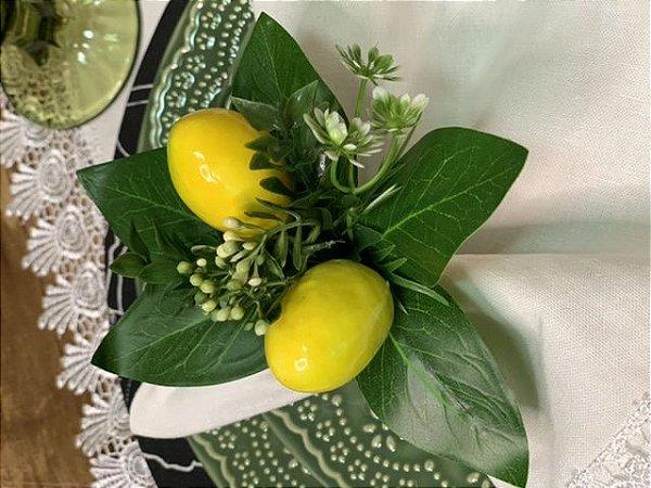 Porta Guardanapo Duo de Limão Folhas