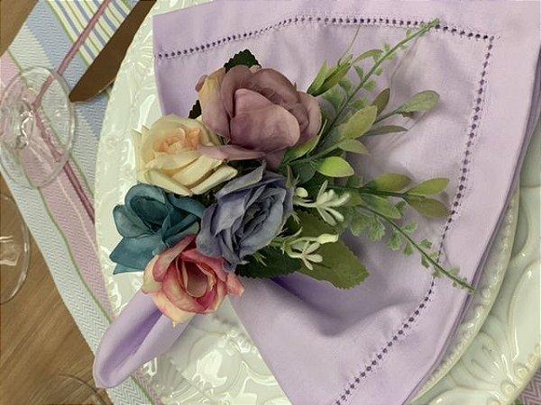 Guardanapo ponto ajour lilás
