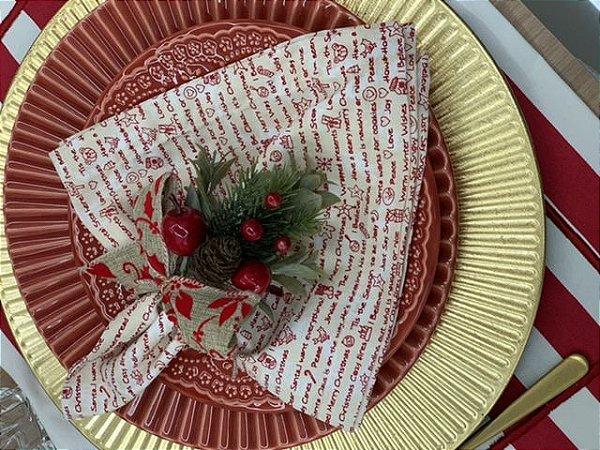 Porta Guardanapo Natal laço Juta