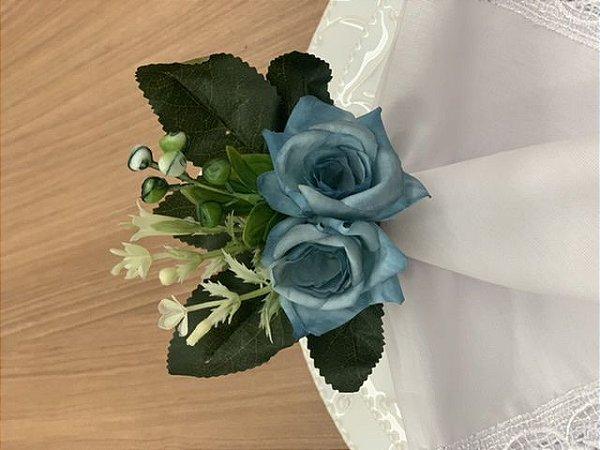 Porta Guardanapo Duo de Rosa Azul
