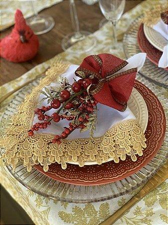 Porta Guardanapo Natal Vermelho