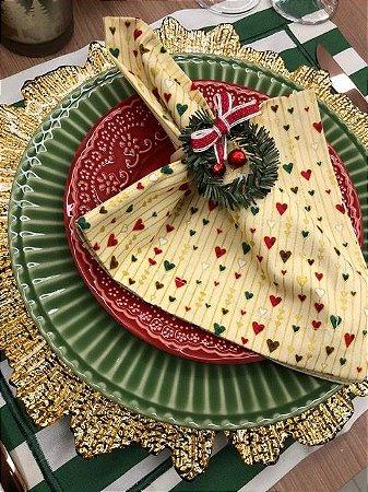 Guardanapo coração Natal