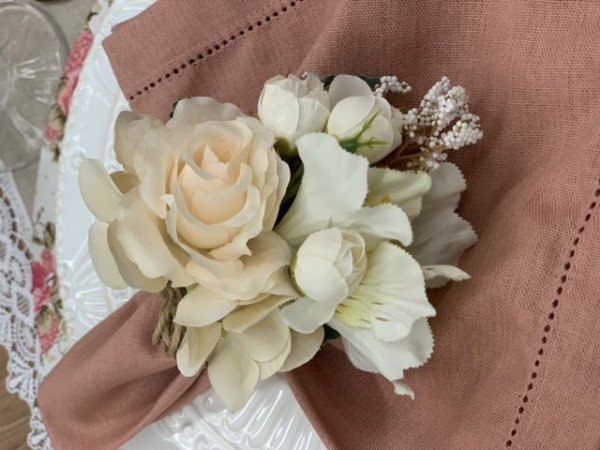 Porta Guardanapo Bouquet Off
