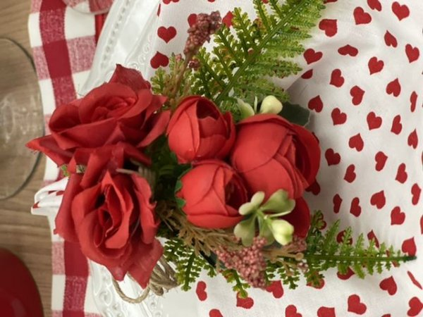 Porta Guardanapo Bouquet Vermelho