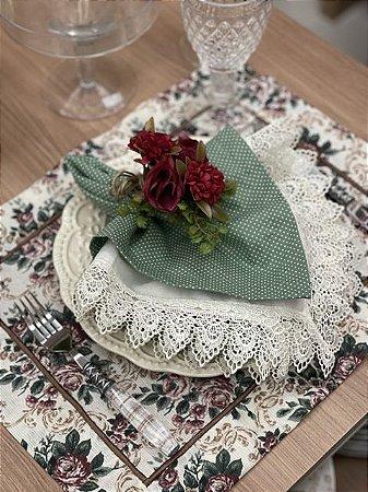 Americano floral Bordo
