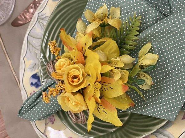 Porta Guardanapo Bouquet Amarelo G