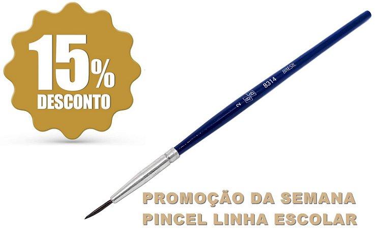 Pincel 8314 Pelo de Pônei/Redondo (BRÉSIL)