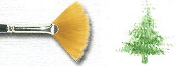Pincel 913 Leque Dourado Acetinado Sable Touch, Cabo longo (Pinctore/TIGRE)