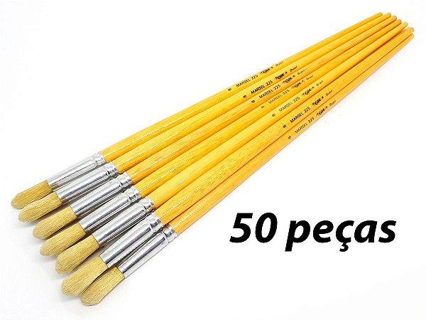 Pacote c/ 50 Pincéis Ref. 325 nº8 (TIGRE)