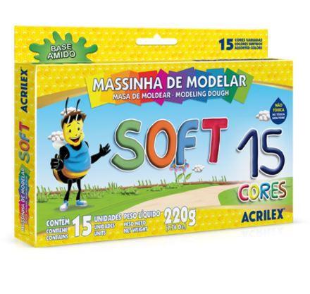MASSINHA DE MODELAR - SOFT 15 CORES