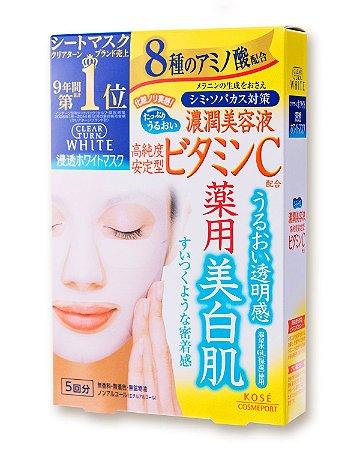 Kose Facial Mask - Turn Clear / Vitamin C / Hyaluronic Acid / Collagen / Premium Royal Gel Mask