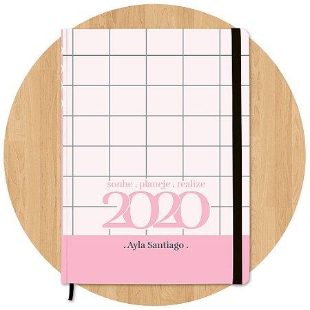 Planner 2020 Quadriculado - Personalizado c/ Nome