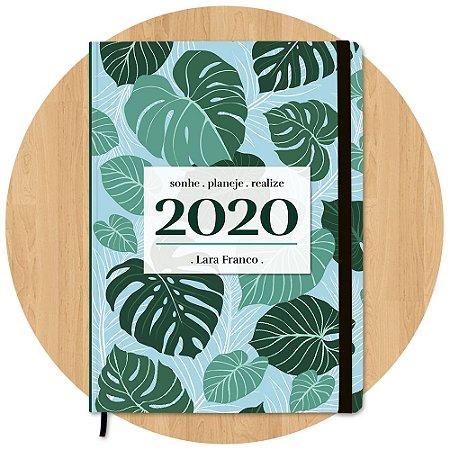 Planner 2020 Folhagem - Personalizado c/ Nome
