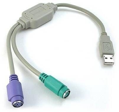 Adaptador Conversor Usb Teclado E Mouse Ps2 P/ Pc E Notebook