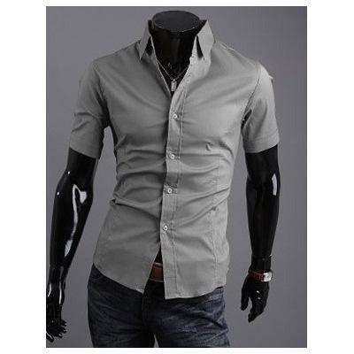 Camisa Slim Fit - Manga Curta ( A Pronta Entrega ! )