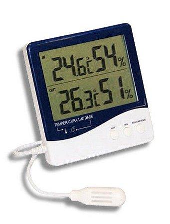 Termo-higrômetro Digital Temperatura e umidade interna/ externa REF 7664 Incoterm