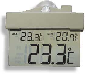 Termômetro digital de Janela- máxima e mínima REF 7653 Incoterm