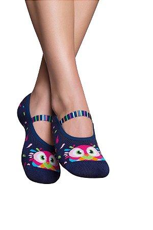 6f63d45f8a Meia sapatilha adulto Puket - Girafa Colorida - Fofuras para mamãe e ...