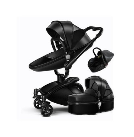 Carrinho de Bebê 3 em 1 Luxo Moisés Passeio e Bebê Conforto