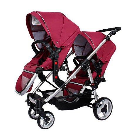 Carrinho de Bebê Gêmeos Passeio Bebê Conforto Stroller Wise