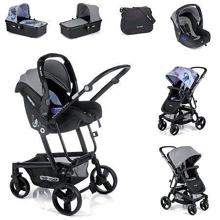 Carrinho de Bebê 3 em 1 Quantum 3 Top Be Cool Borboleta e Cinza