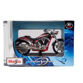 Miniatura de Moto - Victory Vegas Jackpot  - Maisto Special Edition 1/18 com base