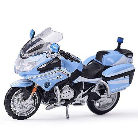 Miniatura BMW R 1200 RT 2016 Polícia Itália Maisto  1:18