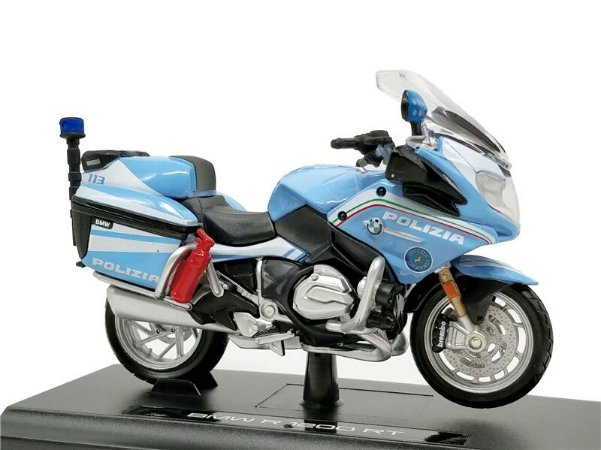 Miniatura Bmw R 1200 Rt 2016 Policia Italia Maisto Desing 1 18