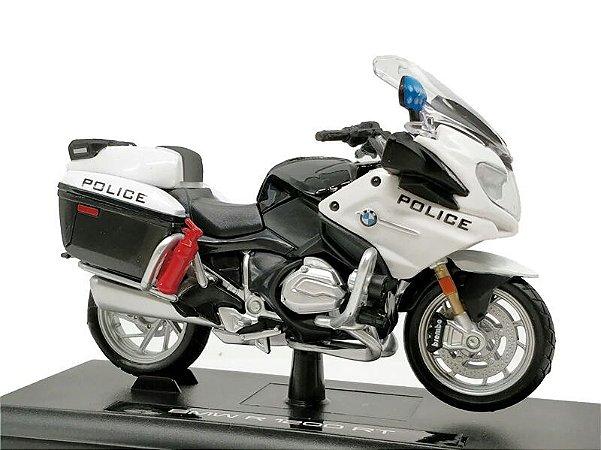Miniatura BMW R 1200 RT 2016 Polícia Estados Unidos Maisto Desing 1:18