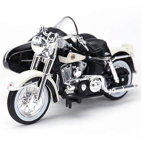 Miniatura Harley Davidson Sidecar FLH Duo Glide 1958 Maisto 1:18
