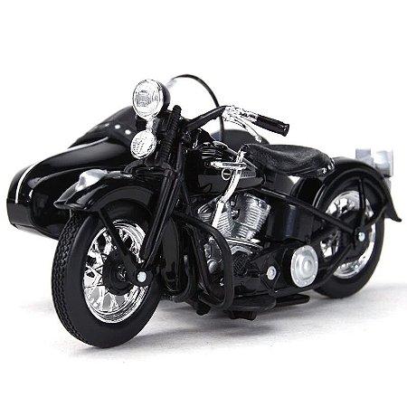 Miniatura Harley Davidson Sidecar FL 1948 Maisto 1:18