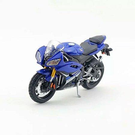 Miniatura Yamaha YZF-R6 2008 Azul Maisto 1:18