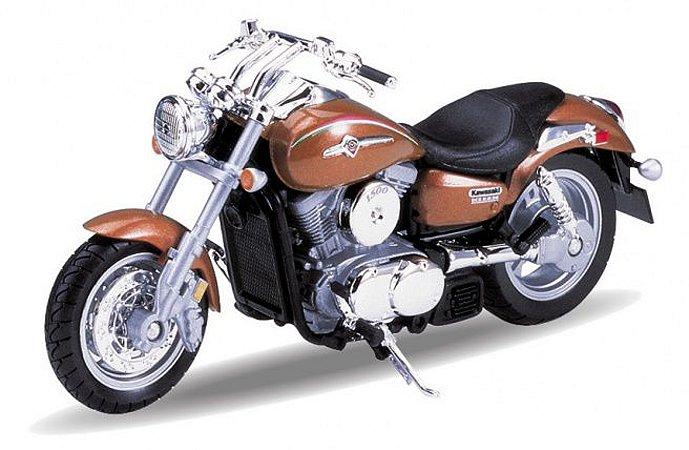 Miniatura Kawasaki Vulcan 1500 Mean Streak 2002 Welly 1:18