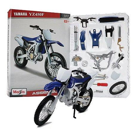 Miniatura Yamaha YZ450F Maisto Assembly Line 1:12 Kit de Montar
